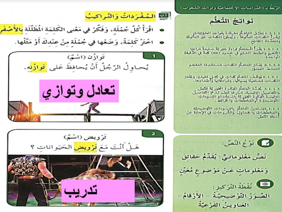 حل درس هيا إلى السيرك لغة عربية صف ثالث