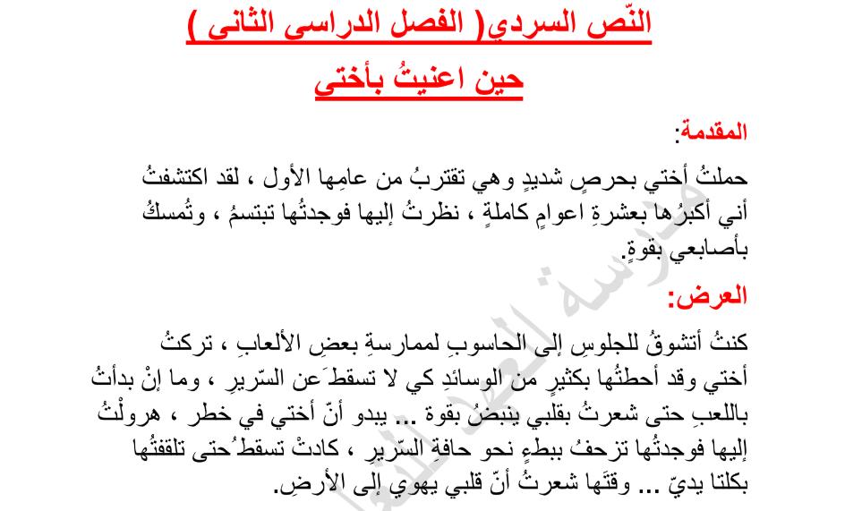 مراجعة مهارة الكتابةلغة عربية صف رابع فصل ثانى