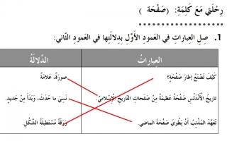 حل درس رحلتي مع كلمة صفحة للصف الثاني لغة عربية كتاب النشاط