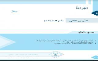 حل درس نغم السعادة لغة عربية الصف السادس