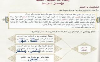 حل درس الافعال الخمسة لغة العربية صف ثامن