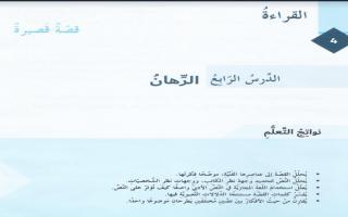 حل درس الرهان لغة عربية الصف السابع