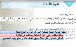 حل درس تاريخ التدفئة لغة عربية الصف السابع