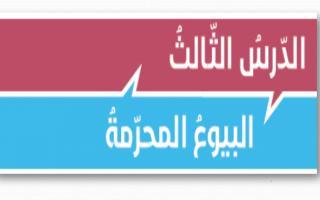 حل درس البيوع المحرمة تربية إسلامية صف ثاني عشر