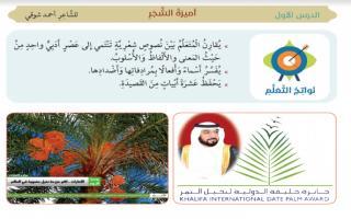 حل درس أميرة الشجر لغة عربية الصف السابع