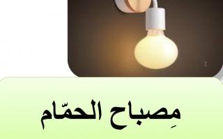 حل درس مصباح الحمام عربي عاشر