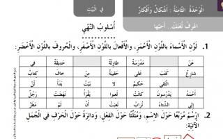حل درس أسلوب النهي لغة عربية للصف الثاني كتاب النشاط