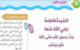 حل درس السيدة فاطمة رضي الله عنها تربية إسلامية صف ثاني