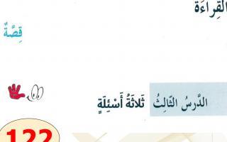حل درس قصة ثلاثة أسئلة لغة عربية الصف السادس